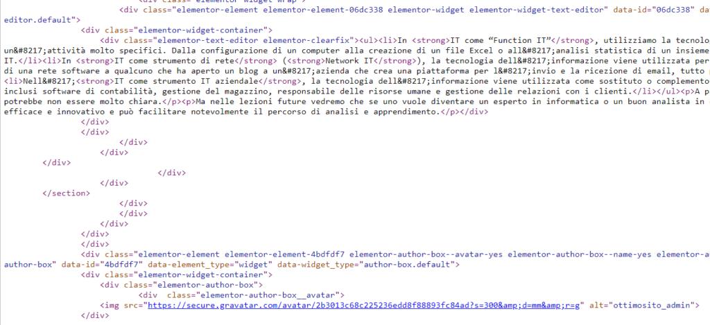 Foto ottimo sito web HTML