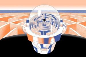 Foto cervello umano e intelligenza artificiale