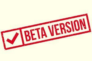 Foto scritto Beta Version