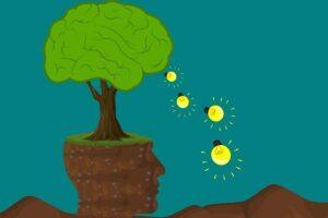 Foto albero e cervello