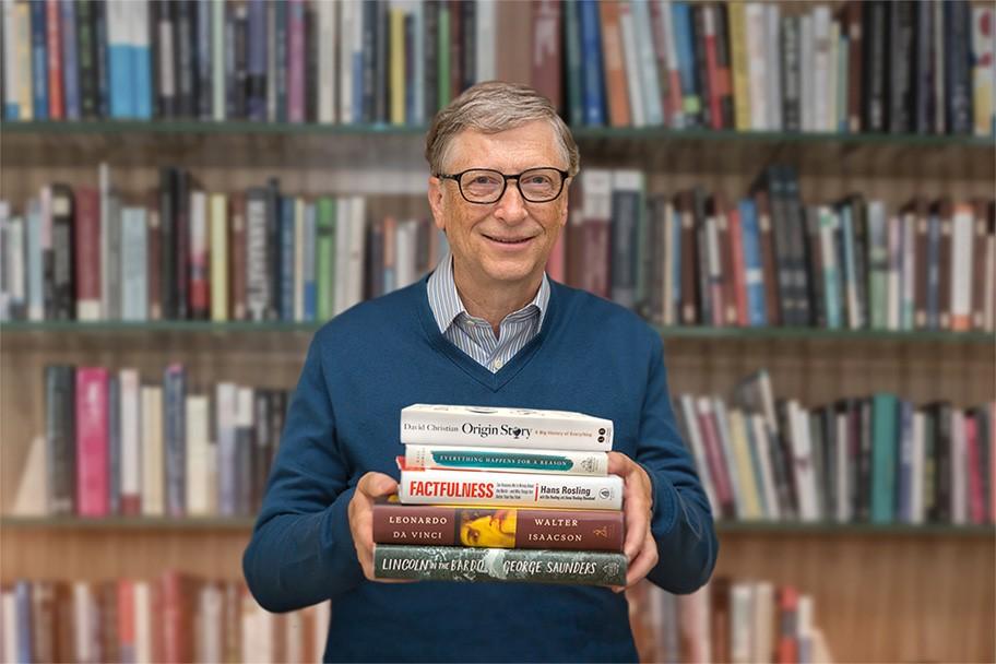 Foto di libro Factfulness di Hans Rosling Bill Gates